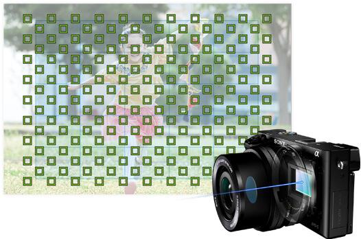 sony α6000 フォーカス測距点イメージ